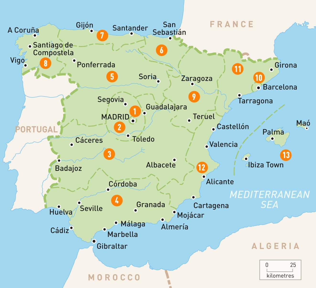 Madrid Area Do Mapa Mapa Da Area Madrid Espanha